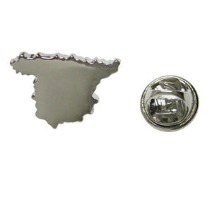 Spain Map Shape Lapel Pin